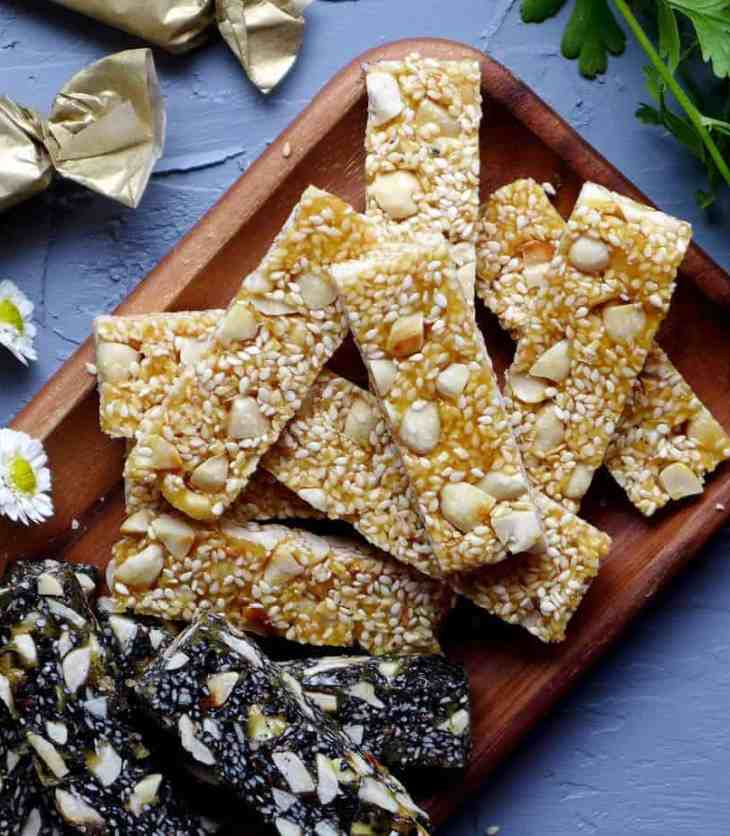 Super crunchy and nutty, Chinese peanut & sesame brittle is totally addictive! This recipe shows you how to make this delightful treat without fail.