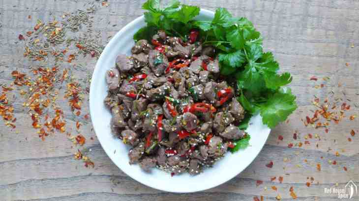 Spicy cumin lamb stir-fry (孜然羊肉)