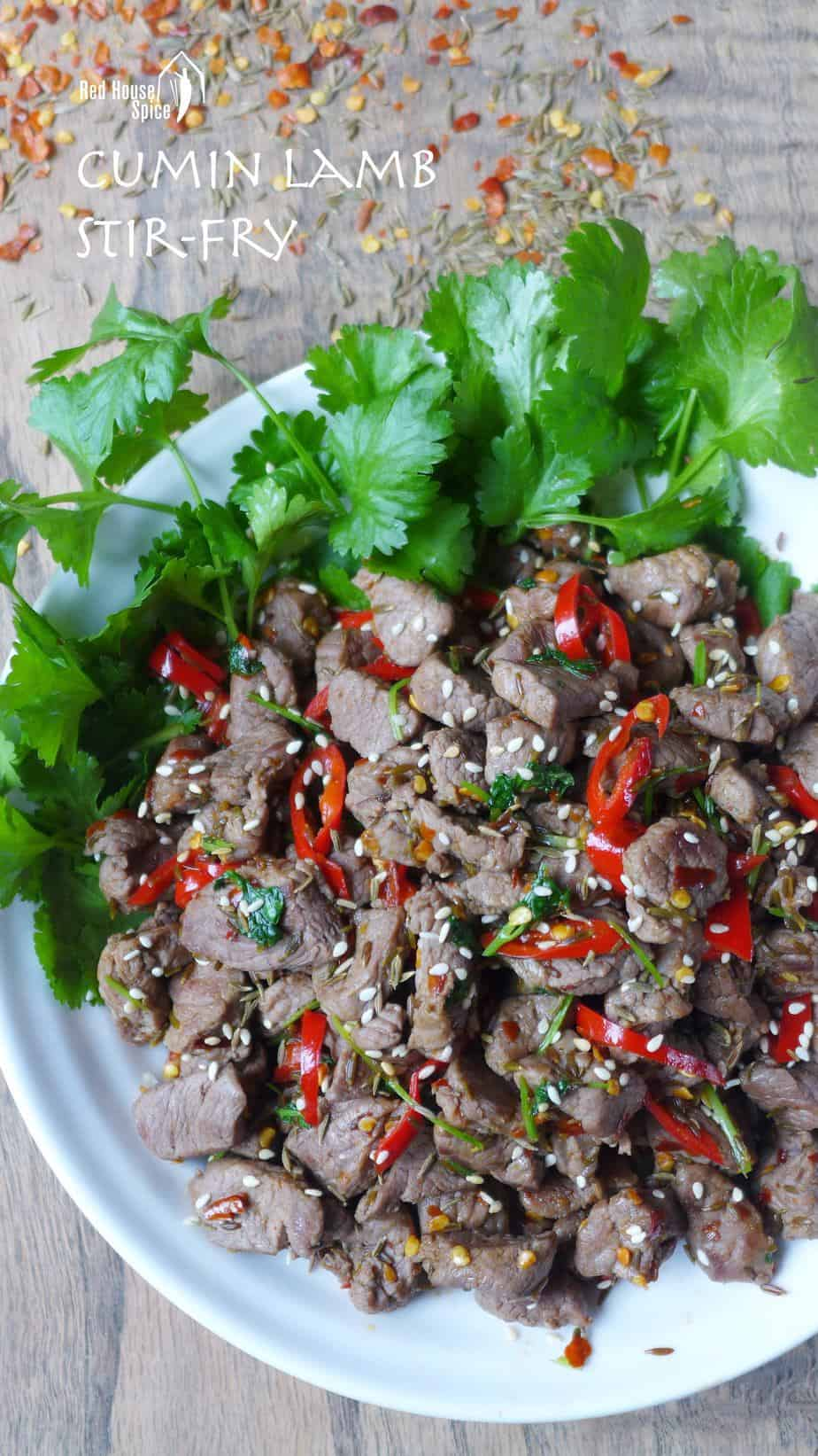 Aromatic and pungent, spicy cumin lamb stir-fry is a dish that seldom fails to impress. This recipe offers two tricks to obtain the perfect texture.
