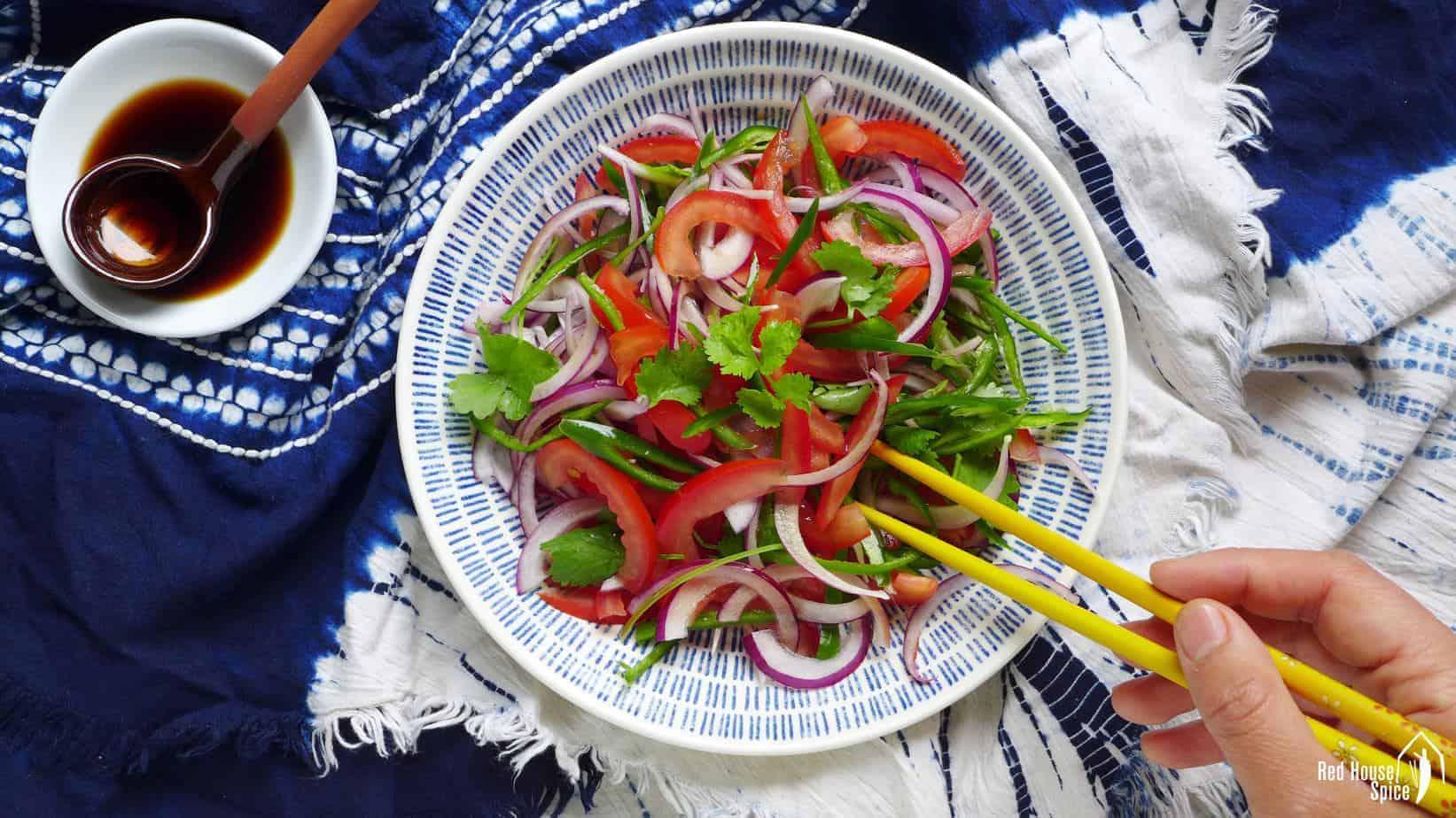 Xinjiang tiger salad (老虎菜)