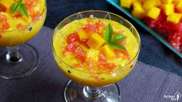 Mango sago with grapefruit (杨枝甘露)