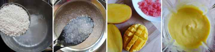 making mango sago