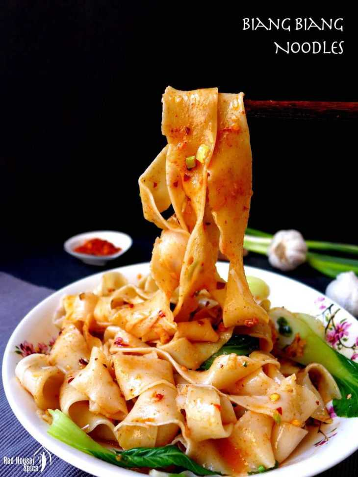 Thick, broad, hand pulled noodles seasoned with chilli, garlic and Sichuan pepper, Xi'an Biang Biang noodles offers a delectable taste and texture.