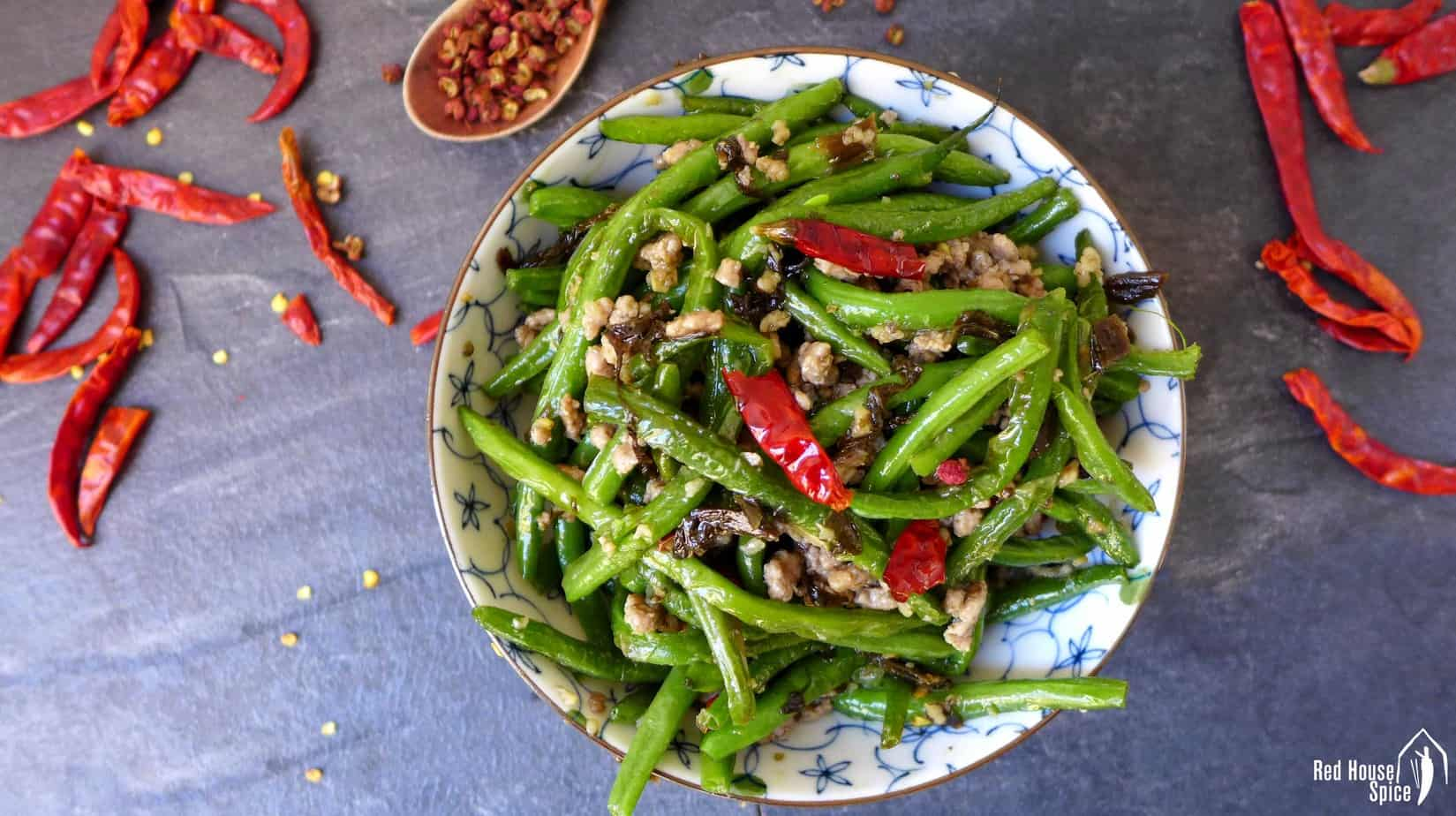 Dry fried green beans (干煸四季豆)