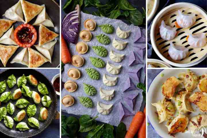 A collection of Chinese dumpling dishes