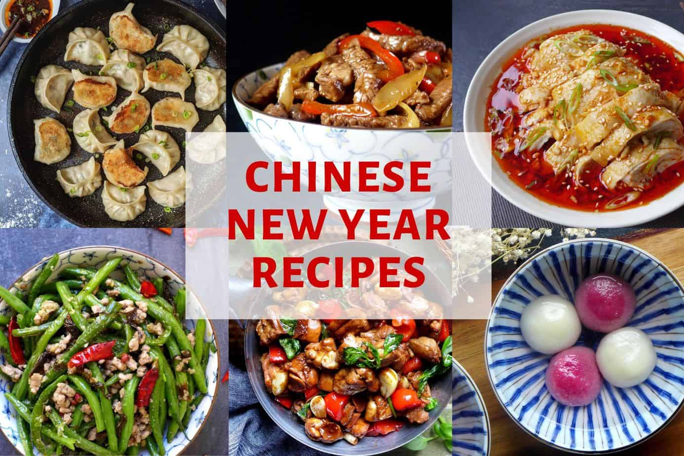 A collection of dishes for Chinese New Year