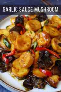 king oyster mushroom stir fried with garlic sauce