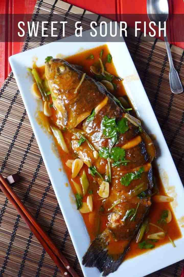 Chinese sweet and sour whole fish