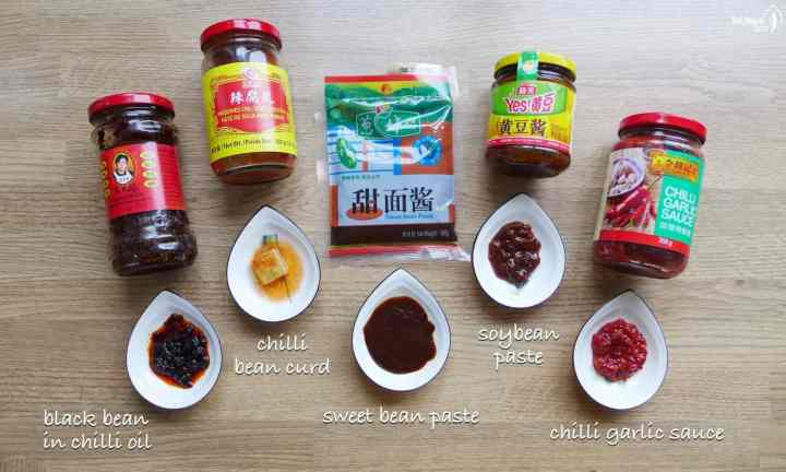 Five Chinese sauces