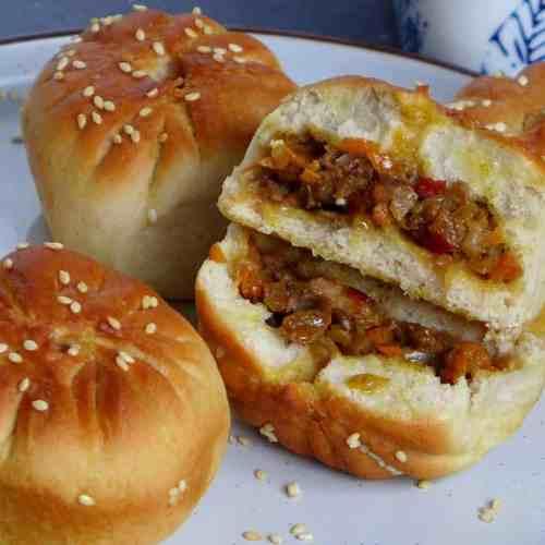 Oven baked lamb bao buns
