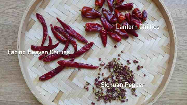 dried chillies & Sichuan pepper