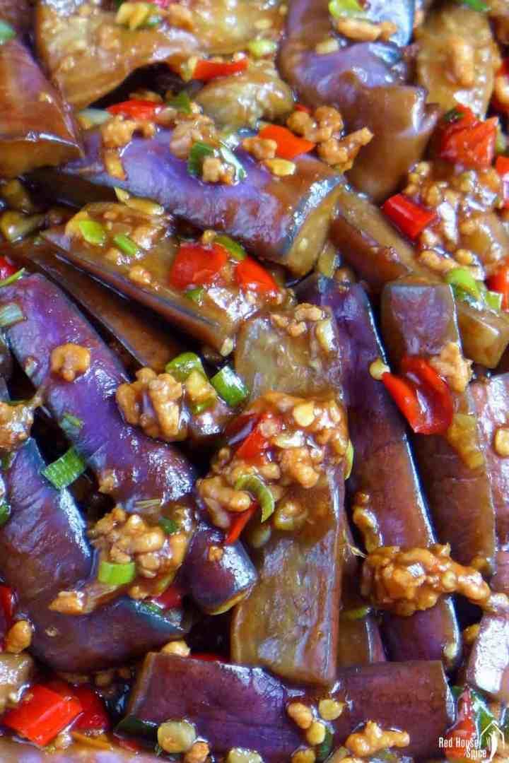 Eggplant With Garlic Sauce Yu Xiang Qiezi 鱼香茄子 Red House Spice