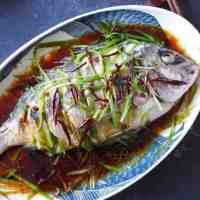 Pescado al vapor cantonés