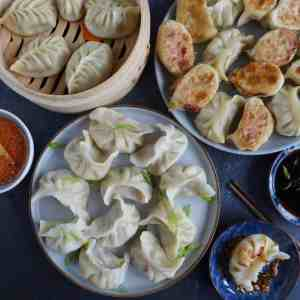Chinese dumplings cooked in three ways
