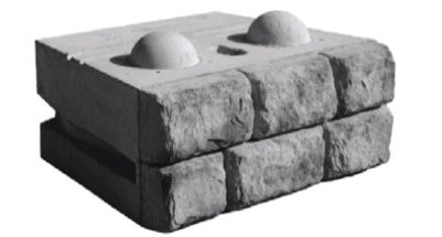 Cobblestone Bottom Block Redi-Rock 2500 lbs