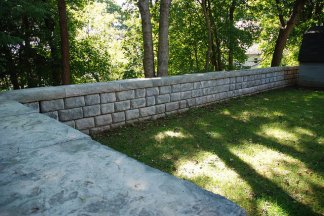 Freestanding Cobblestone Fence Wall Red-Rock product