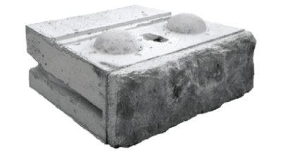 Limestone Bottom Block Redi-Rock 2500 lbs
