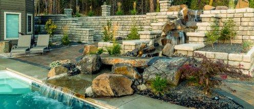 Redi-Rock cobblestone Residential Wilbert Precast Slider