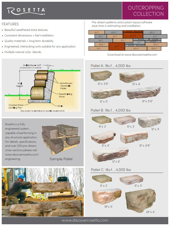 rosetta machine set retaining  u0026 freestanding walls - redi-wall llc brighton mi