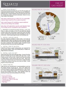 Gas Fire Pits Info Sheets