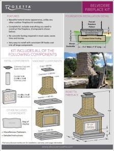Rosetta Belvedere Fireplace Kit