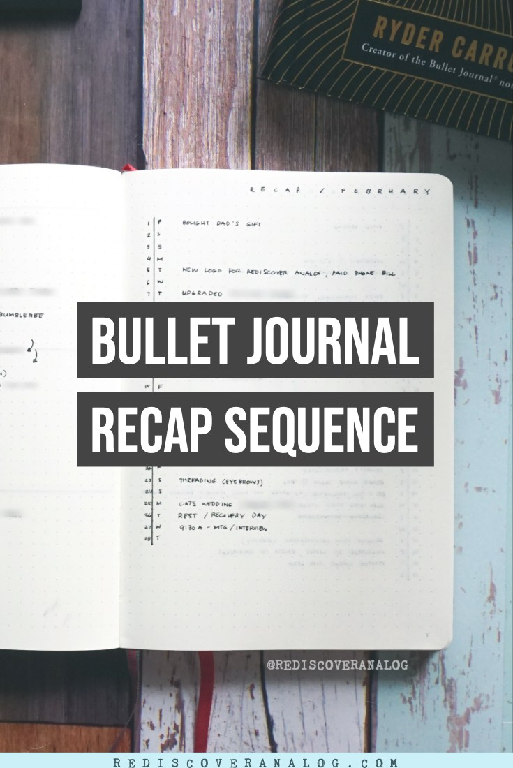 Bullet Journal Recap Sequence