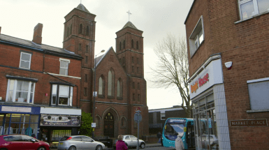 View of St Peters Catholic Church 2016 from across the road.