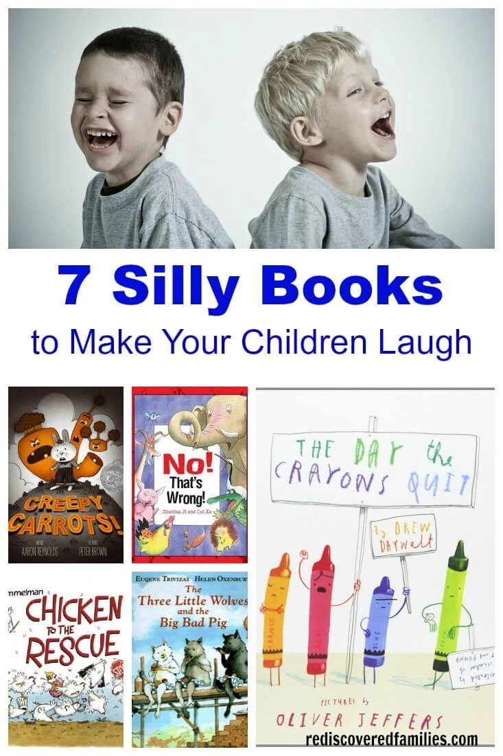 Younger children love silly books, so I've made a list of my favorites. These are the books that get the children in our library laughing. Of course, when it comes to children's books delivery is key, so don't hold back. Ham up the reading with silly voices and sound effects. Then enjoy all those giggles, because laughing with your child over a silly book is a great way to connect.
