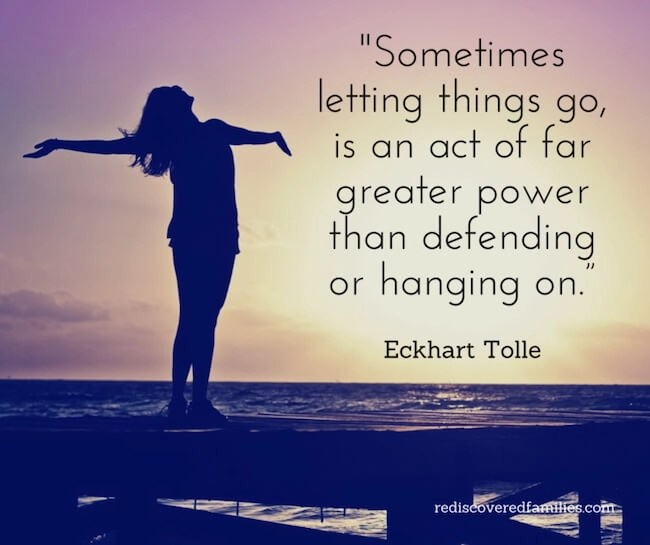 """Sometime You Have to Let Go - It is easy to be distracted by the """"You shoulds"""" and the """"You musts."""" We parents all have ideas about we should and shouldn't do. It is possible to become so preoccupied with those ideas that spending time with our kids can be put on hold. Sometimes we have to let go, so we can focus on the important things like building connection, having fun, and making memories."""