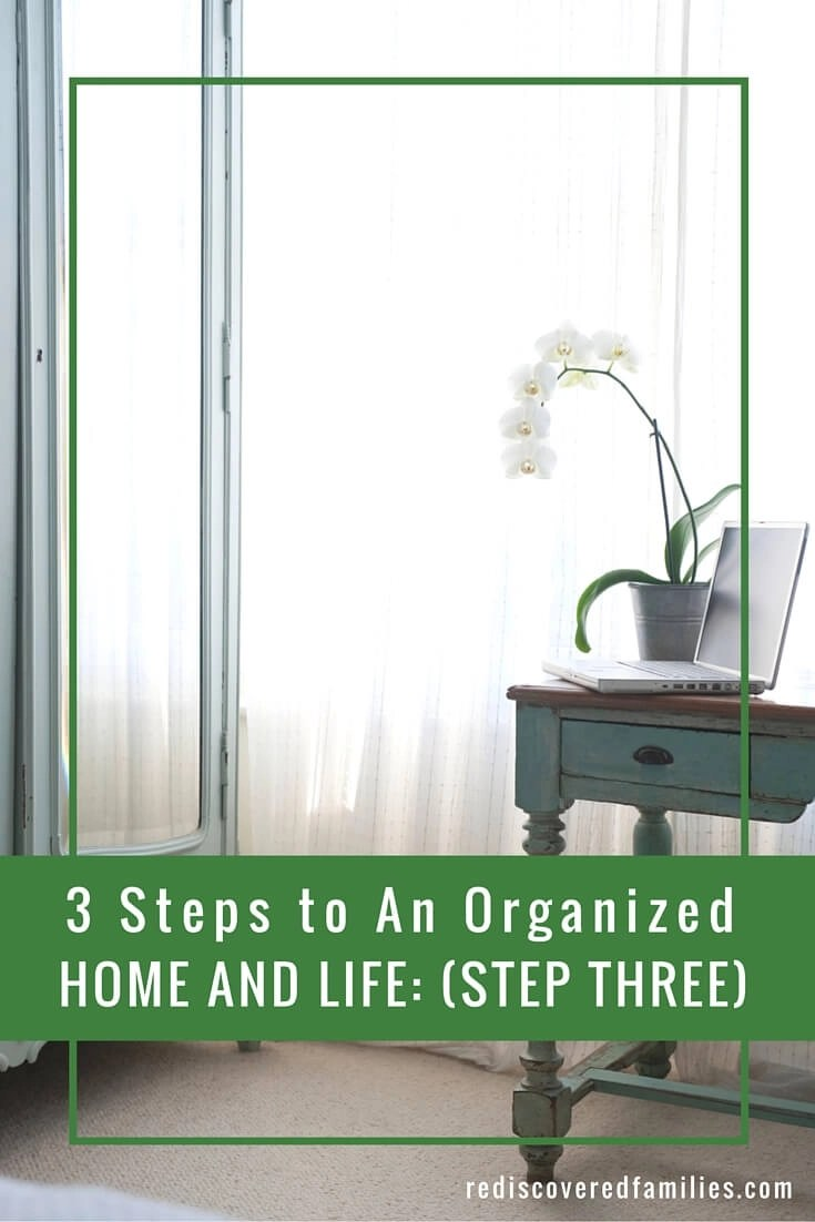 Organizing Home and Life: Step 3 – Establish Habits