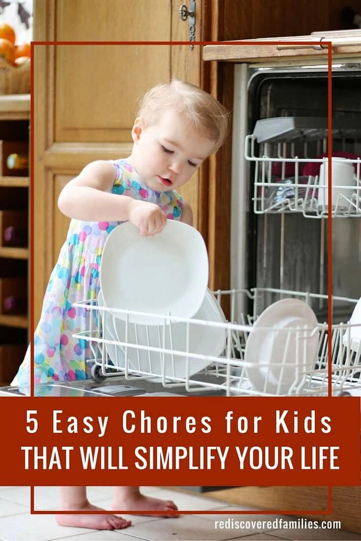 5 easy chores for kids that will make a huge difference! The first one might just save your sanity.