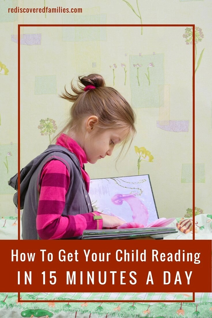 Want to get your child reading. It only takes 15 minutes a day.