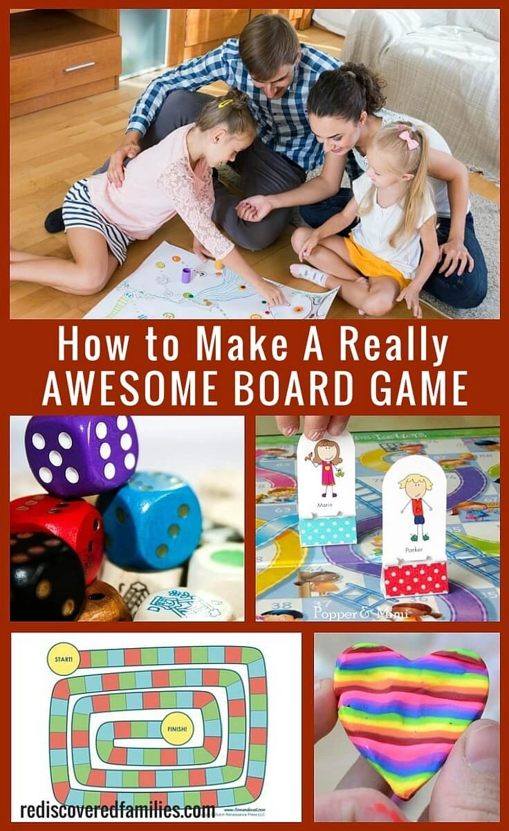 Looking for a family activity to encourage your kid's imagination? Invite them to help you design and make a board game. It's creative, fun, and practically free.