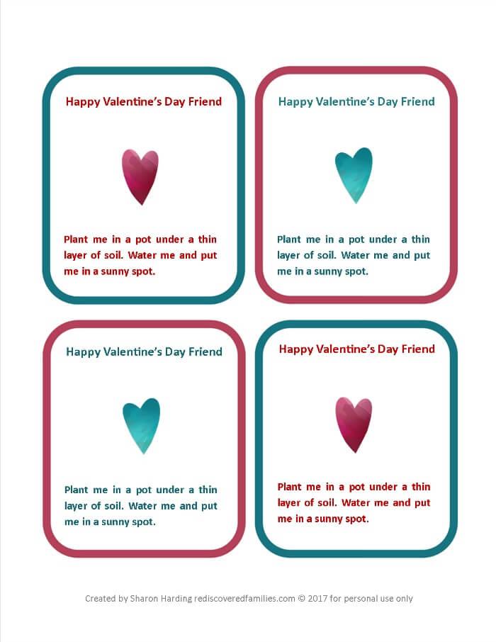 eco-friendly valentines printable