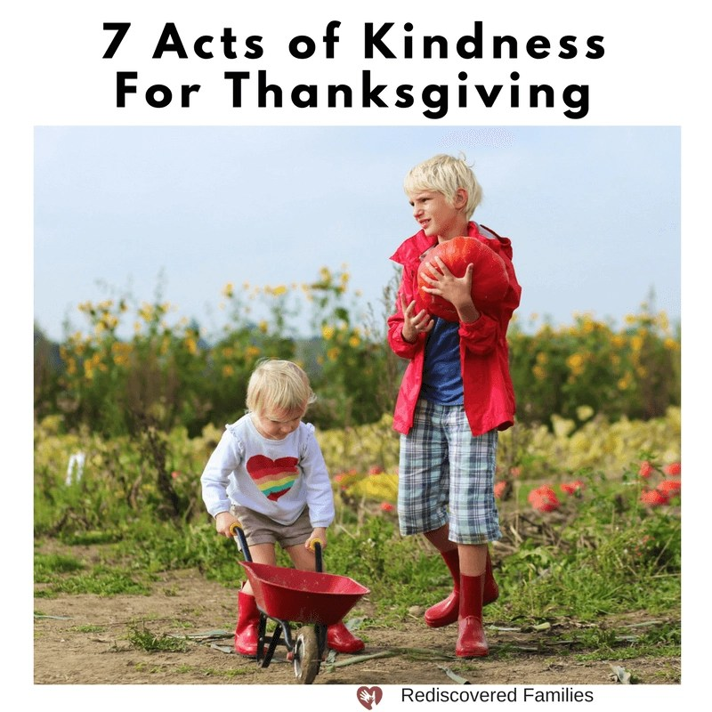 Acts of Kindness for Thanksgiving