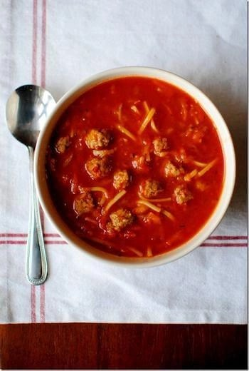 soups for kids spaghetti and meatball