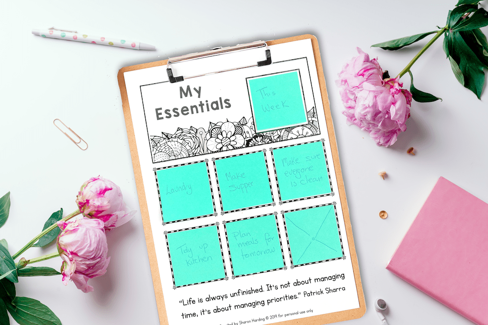 Simple to do list to help an overwhelmed Mom