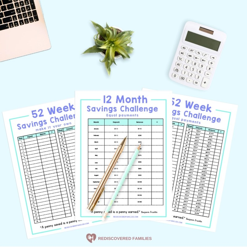 52 Week Money Saving Challenge Printable