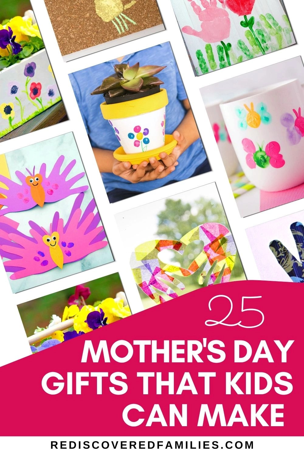 Mother's Day crafts using hand prints