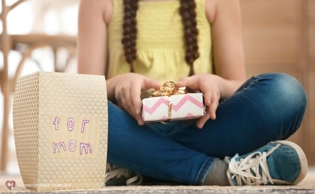 Child With Mother's Day Gift