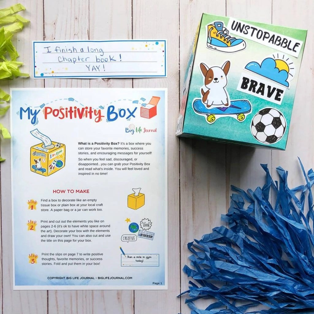 10 Activities To Encourage A Positive Attitude In Your Kids Free Printable