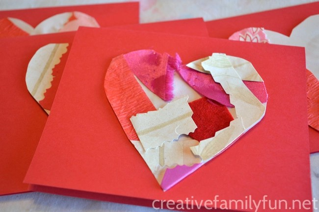 eco-friendly valentines- collage heart