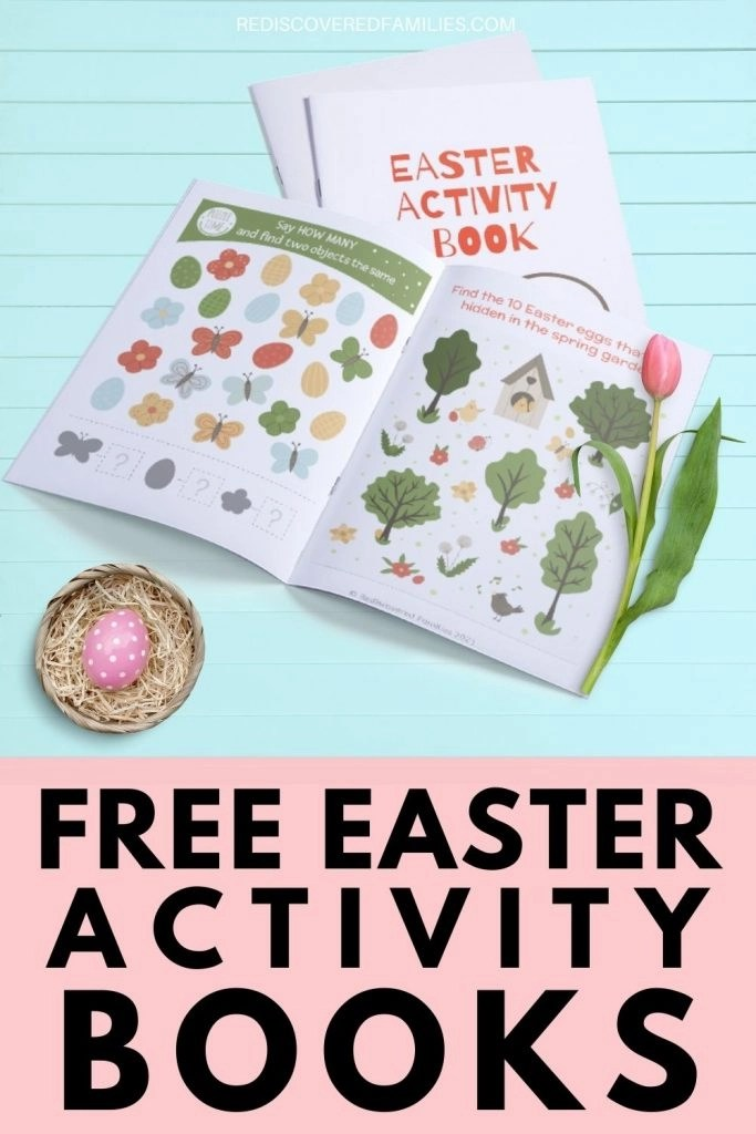 Close up of pages in Easter Activity Book