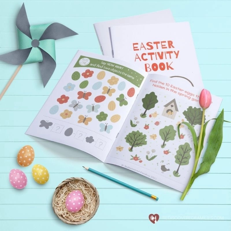 Easter Activity Book showing inside pages