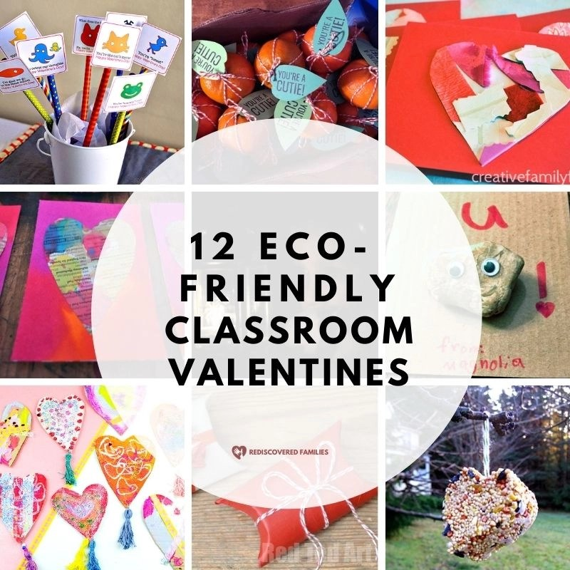 Collage of Eco Friendly valentines