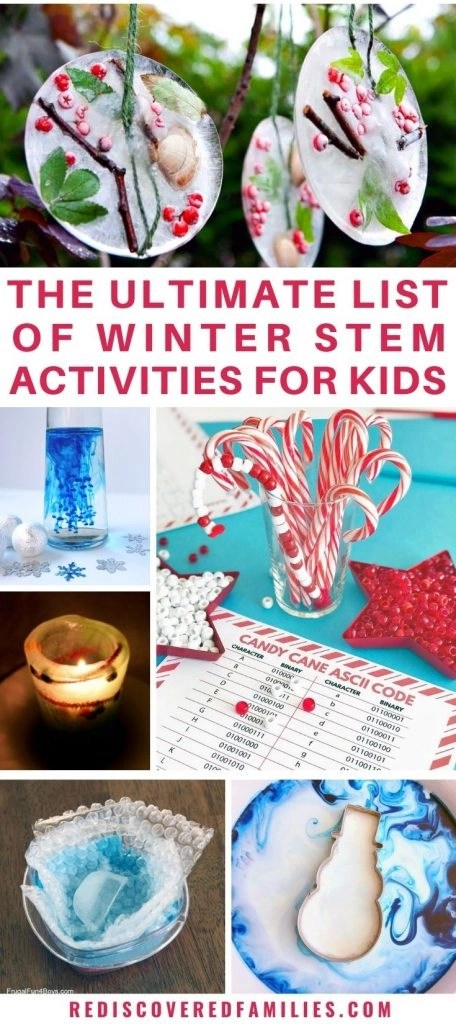 Winter STEM activities pin