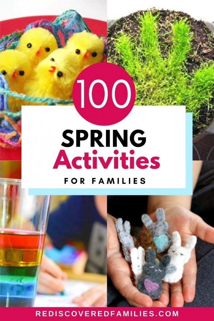 Spring Bucket List For Families pin