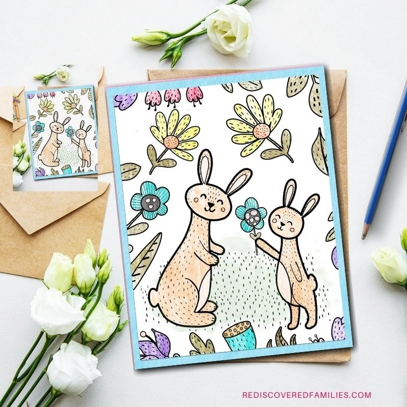 mothers day coloring cards