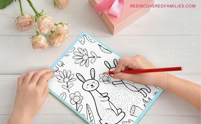 4 Adorable Mother's Day Cards For Kids to Color