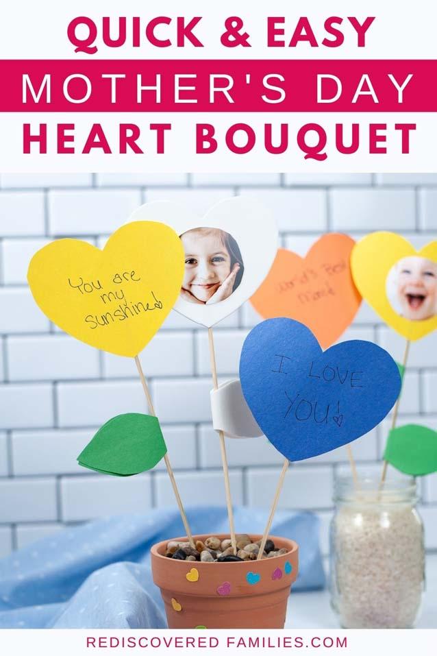 heart flower craft for kids pin